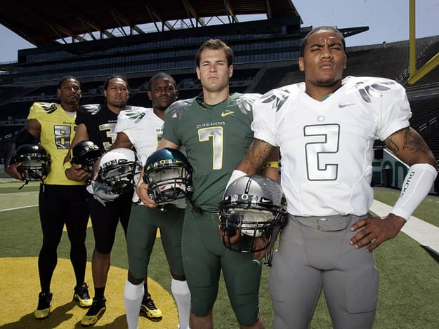 The University Of Oregon Ducks Have Long Been Known As A Team That Pushes Envelope When It Comes To Attire 2009 Uniforms Seen Above