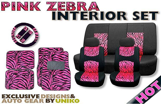 7 Pink Zebra Avoid Purchasing Here 5995 Car Seat Covers