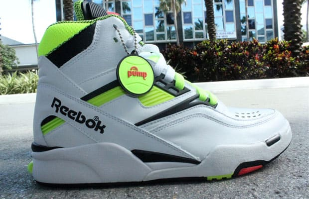 Reebok brings us a classic colorway with the white neon Reebok Twilight  Zone Pump. Dominque Wilkins  shoe of choice was also one on the cutting  edge of ... 9ed5fe93d