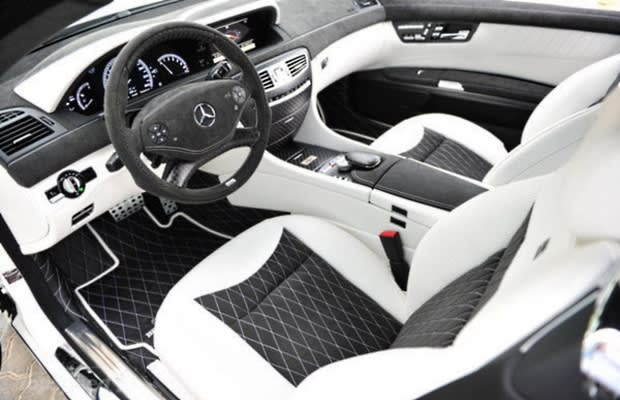 Custom Shop Brabus Most Outrageous Feature White Leather And Black Alcantara Interior Carbon Fiber Dash Elements
