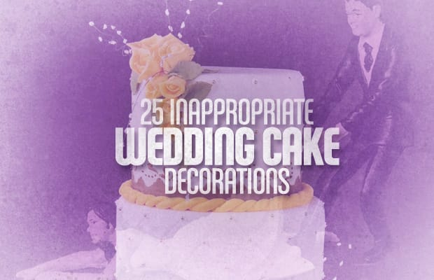 25 Inappropriate Wedding Cake Decorations Complex
