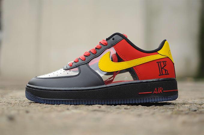 new product f4b9c f6b4f Heres a Clear Look at Kyrie Irvings Nike Air Force 1 Low