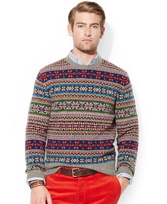 Polo Ralph Lauren Wool Fair Isle Sweater - 10 Holiday-Appropriate ...