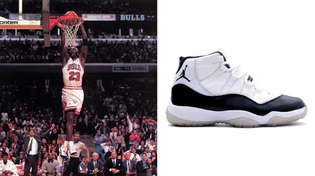 """Michael Jordan in the Air Jordan XI """"Concord"""""""
