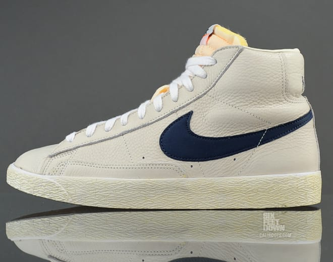 nike blazer leather white
