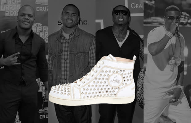 9ee6da3644094 A History of Celebrities Wearing Christian Louboutin Sneakers