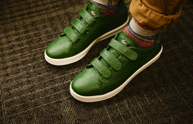 015f8a70db30 ... Lacoste Camden New Cup Green Alligator Lacoste Mens Shoes ...