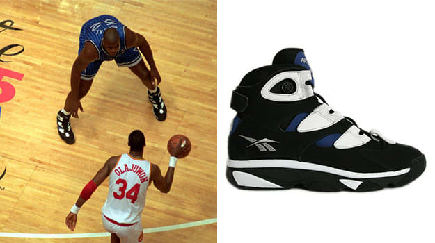 Shaquille O'Neal in the Reebok Shaq Attaq IV