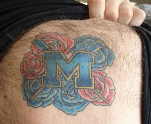 michigan masculinity the 20 biggest college football tattoo fails complex. Black Bedroom Furniture Sets. Home Design Ideas