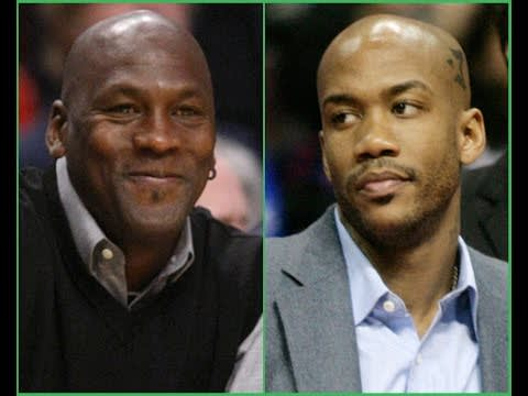 Michael Jordan and Stephon Marbury