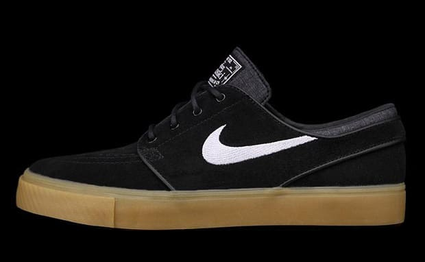 d06b239ff456 Nike SB utilizes a gum sole on this recent drop-off of the Zoom Stefan  Janoski. The heralded skate pair is here done up in black suede