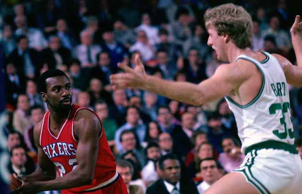 Round 1982 Eastern Conference Finals Game 7 Matchup 76ers Celtics Stats 14 For 23 34 Points 3 Rebounds 6 Assists
