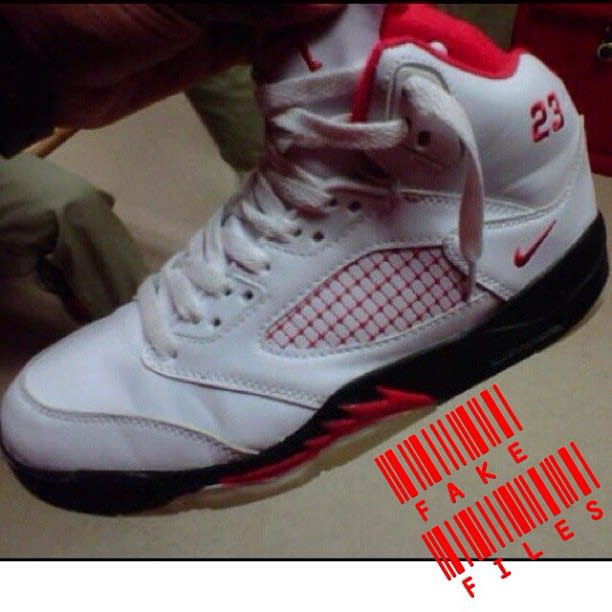 Air Jordan 5 Quot Fire Red Quot The 50 Most Unbelievable Fake