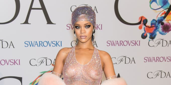 Cfda awards rihanna dress see through