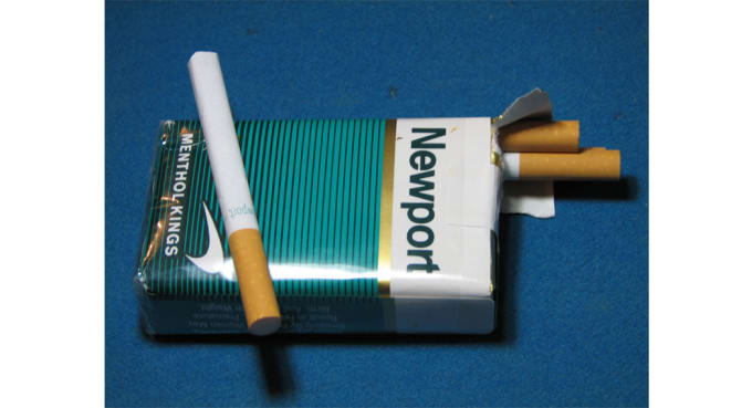 Size of cigarettes packets