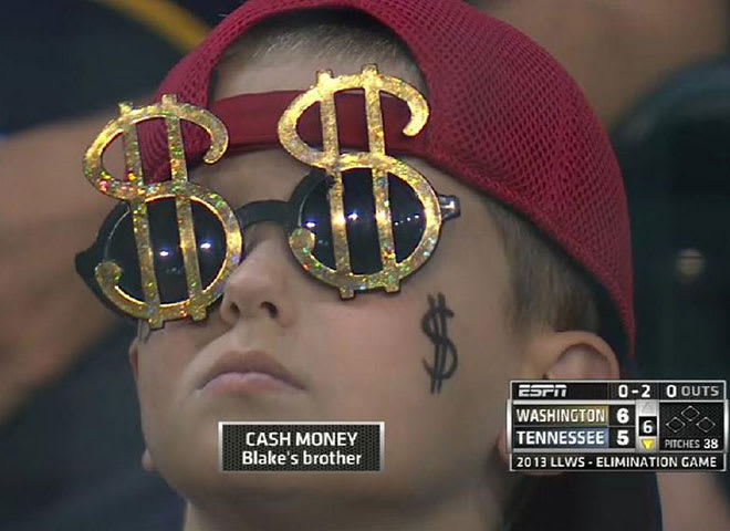 cash money is little leaguer s brother complex
