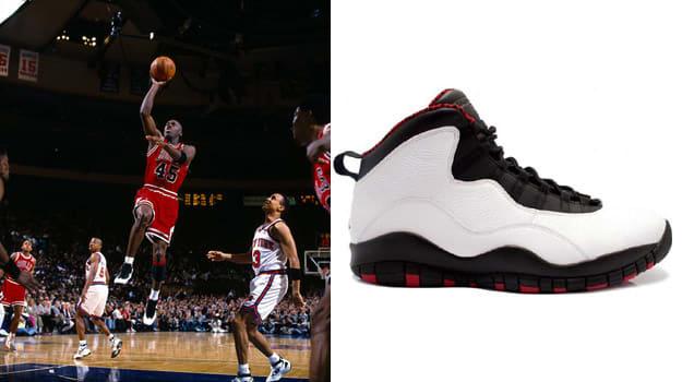"""Michael Jordan in the Air Jordan 10 """"Chicago"""""""