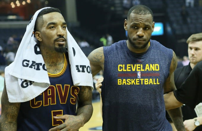 a7a0896432a Image via USA Today Sports   Nelson Chenault. The hairline of LeBron James  ...