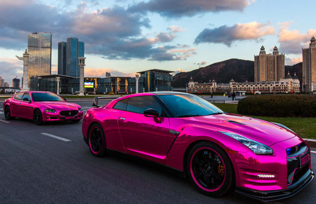 The Pink Chrome Nissan GT-R and Maserati Quattroporte Aren't Just ...