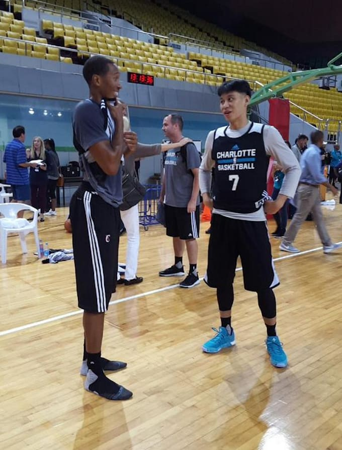 Jeremy lin debuts terrible bowl cut at nba global games complex image via nba on twitter m4hsunfo Choice Image