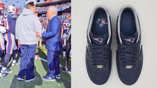 competitive price 85bbb e84c2 ... Robert Kraft wears Custom Nike Air Force 1 patriots air force 1 . ...