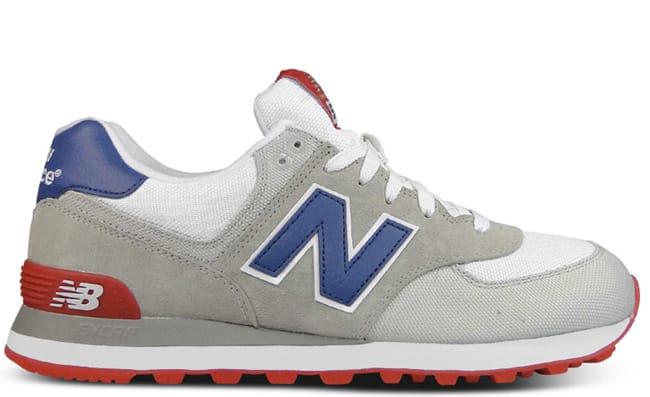 new balance 574 beige/white/blue