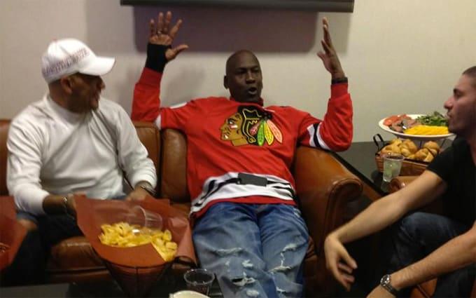 6d4bf7324ab Image via  fakeshoredrive. Michael Jordan rocking a rare pair of ...