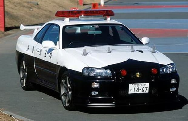 Nissan R34 Skyline GT-R - The Coolest Police Cars in the World | Complex