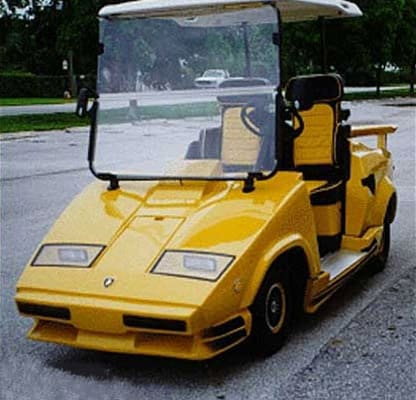 Rolls Royce Golf Cart >> Lamborghini Countach - 25 Crazy Golf Carts | Complex
