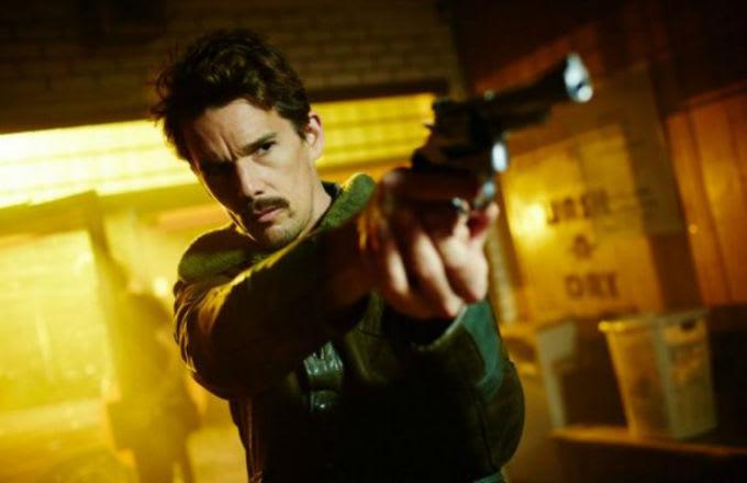 ethan hawke pointing a gun
