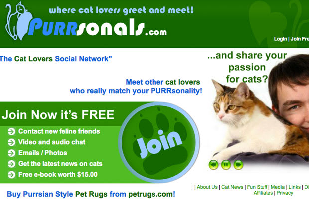 dating website for cats