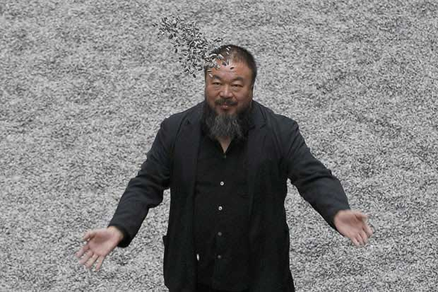 46e1a865cf8 Artist Ai Weiwei rocks all-black-everything like his name was Jay-Z