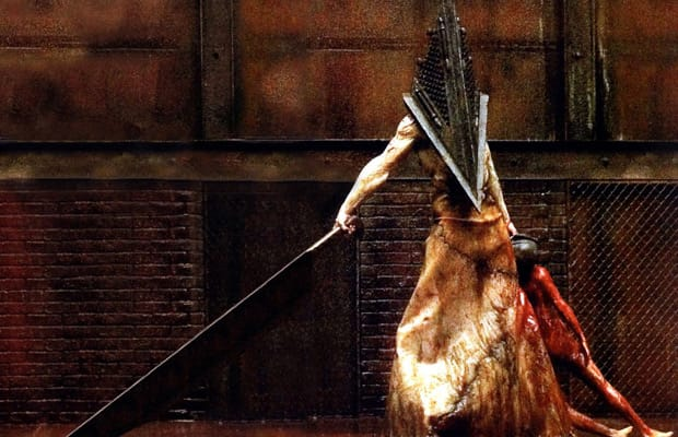 The    Scariest Monsters In Movie History   Complex Scariest moment  With sirens ringing  Silent Hill     s petrified churchgoers watch in horror as Pyramid Head grabs a young woman  lifts her in the air