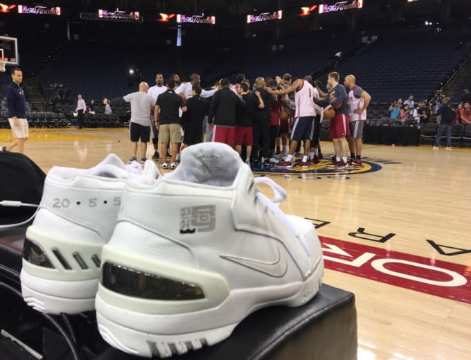 18693aeffd1 LeBron James Brought His Rookie Sneakers to the NBA Finals