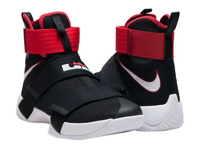 f527a2ab0ce7 Nike LeBron Soldier 10 Black White Red