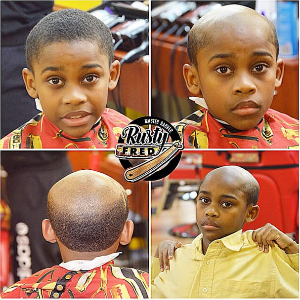 A Barber Is Giving Kids Old-Man Haircuts To Help Parents