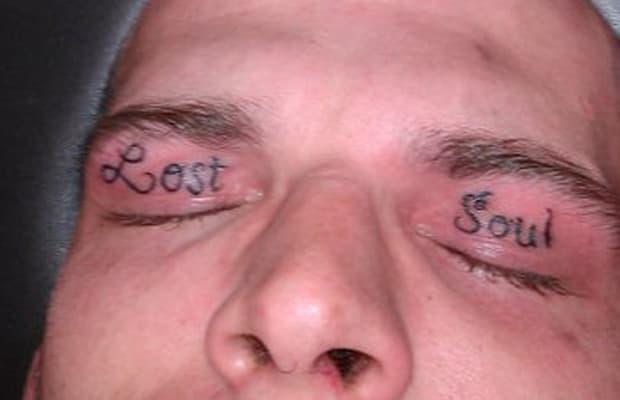 19 25 creepy eyelid tattoos complex. Black Bedroom Furniture Sets. Home Design Ideas