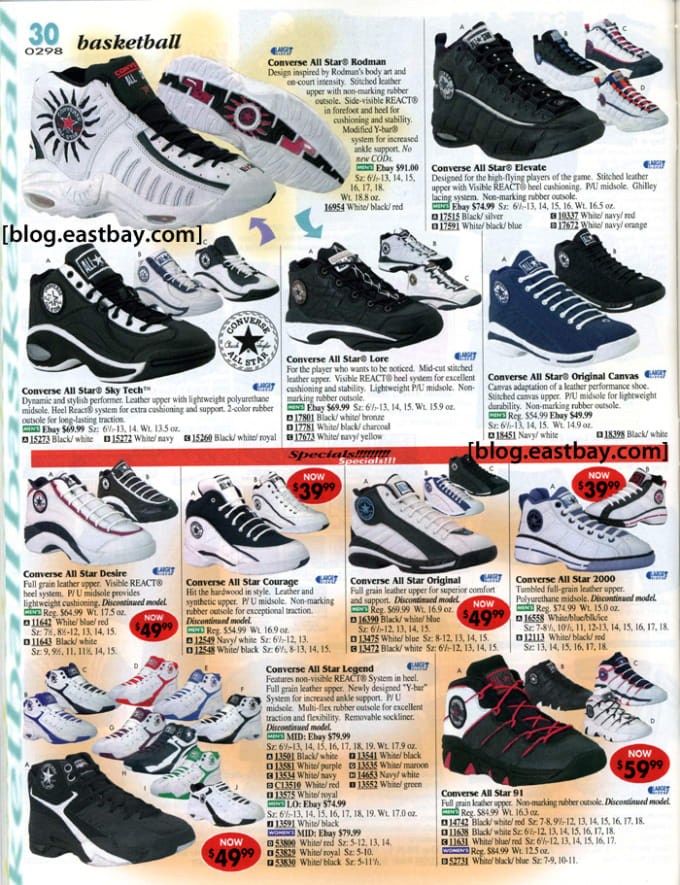 25 Classic Sneakers From Vintage Eastbay Catalogs  0bba47b40