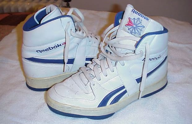 reebok white high top tennis shoes
