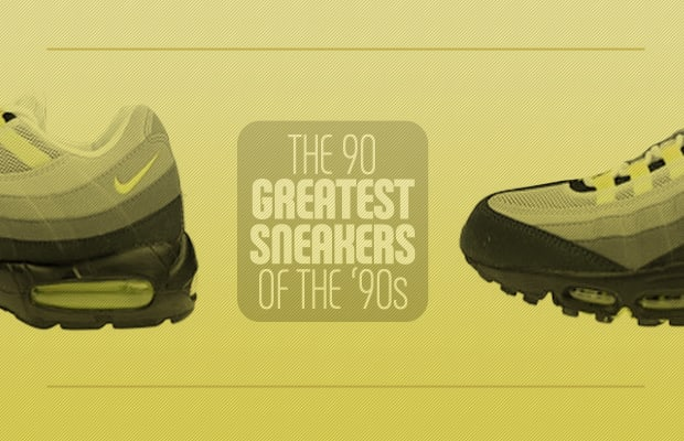 ea2f0acae60664 The  90s was a crazy decade for sneakers. From the Air Jordan V to the  Reebok Question to the Nike Air Max 95 to the Vans Half Cab