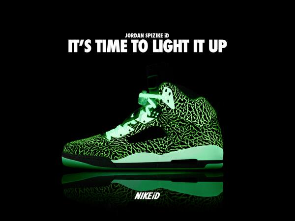... Jordan Spizike Liquid Metal iD Samples  Stand out even when the lights  are out a3a779a6ebb4