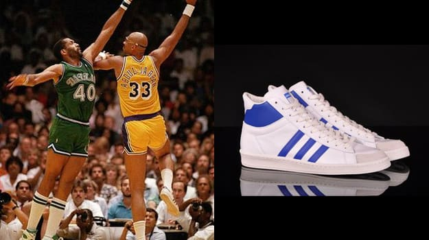 Kareem Abdul-Jabbar in the adidas AO Shot Hook II