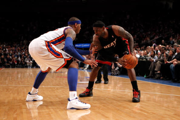 The Complete Footwear History of LeBron James vs. Carmelo Anthony ... c2b12c81f12b