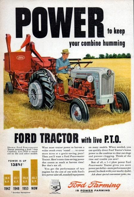 1957 Ford 860 Powermaster Tractor