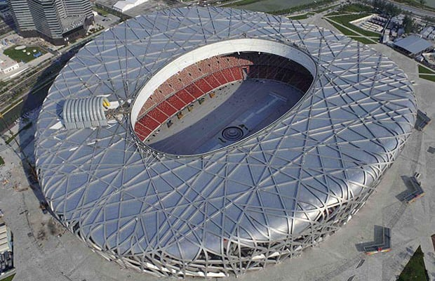 The beijing olympic stadium he designed was modeled after for Ai weiwei bird s nest stadium