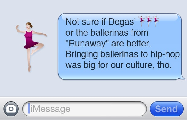 Ballerinas - 15 Kanye West-Inspired Art and Design Emojis ...