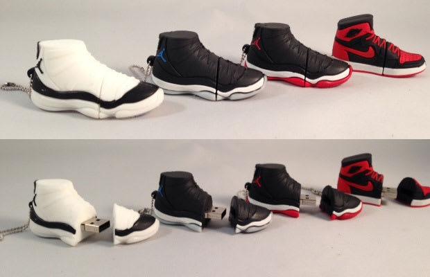 Sneaker usb drives 15 sneaker themed accessories you for Jordan bedroom ideas