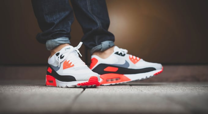 newest 13bdd 12467 italy nike mens air max 90 ultra essential white cool grey infrared black  220f4 07c50  france image via afew. as the air max 90s 19028 7966e