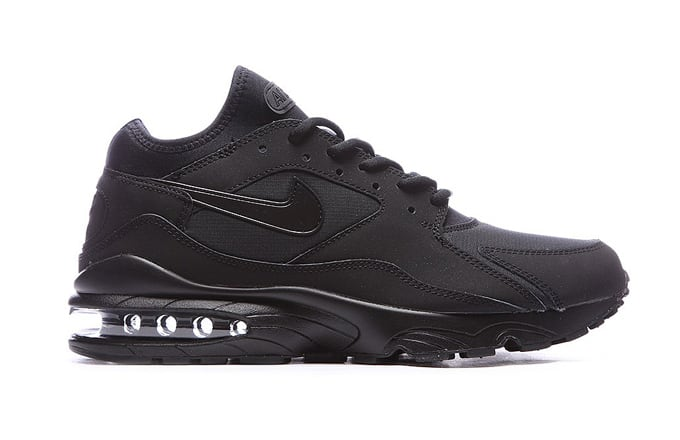 all black air maxs