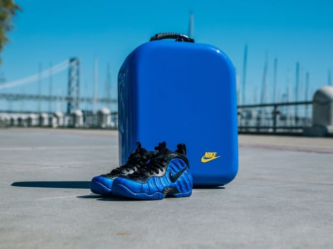 c8d78f04274 Nike Air Foamposite Pro Hyper Cobalt with Special Packaging at Golden Air